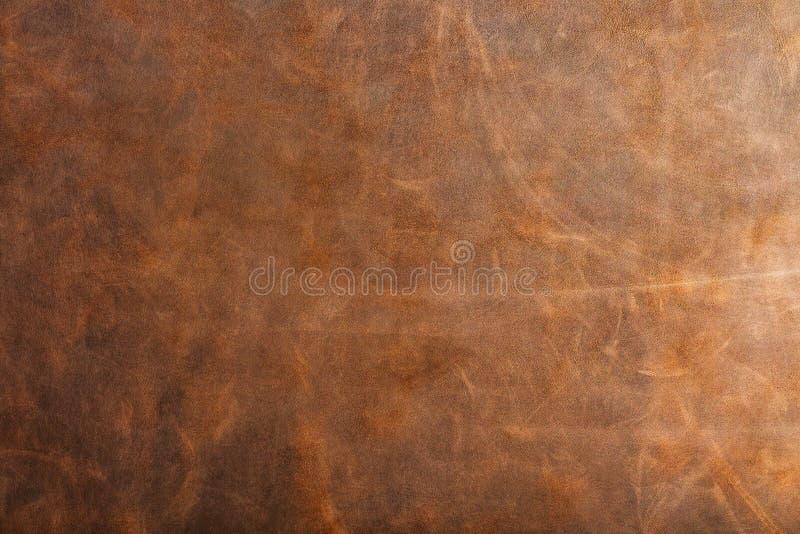 Texture et vieille peau grunge Brown a donné à en cuir une consistance rugueuse sur pleine page images stock
