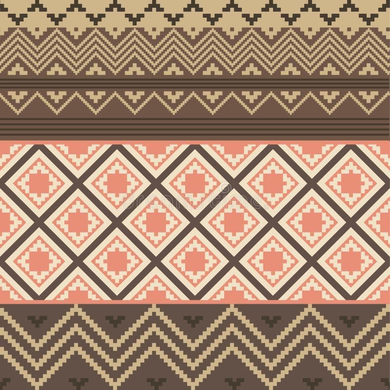 Texture ethnique colorée illustration de vecteur