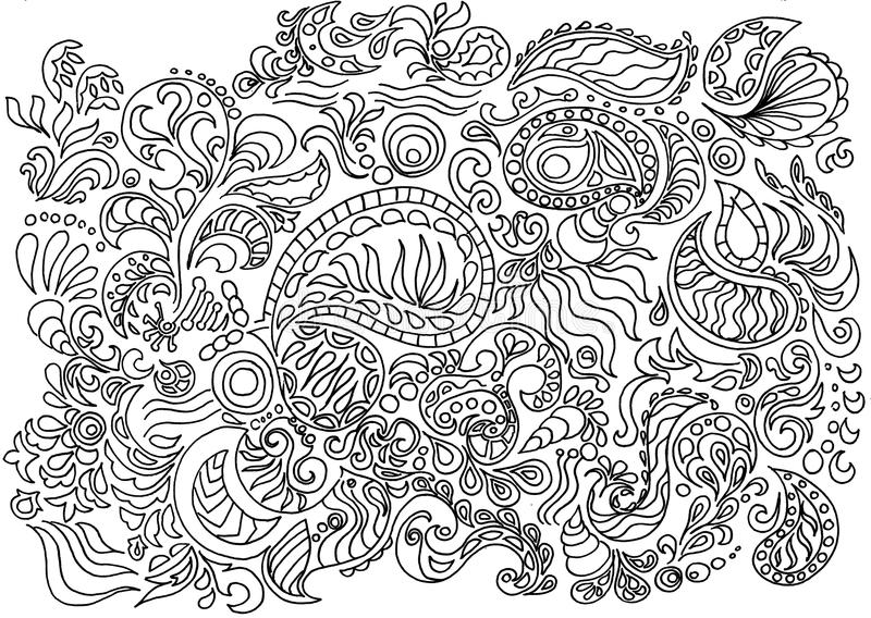 Texture fabric paisley and floral vector illustration