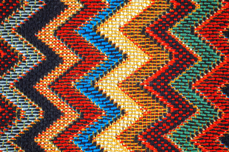 Texture of fabric with traditional Mexican pattern stock photos