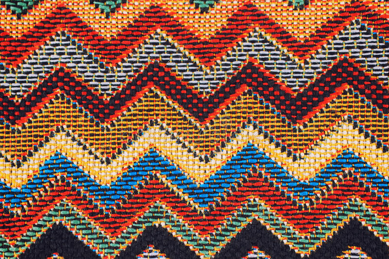 Texture of fabric with traditional Mexican pattern. Macro. A tissue sample stock photography