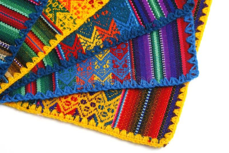 Texture fabriquée à la main péruvienne photos libres de droits