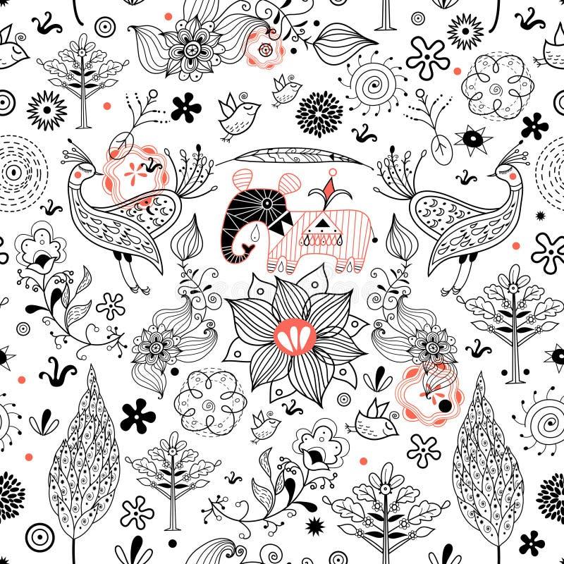 Texture is fabulous animals vector illustration