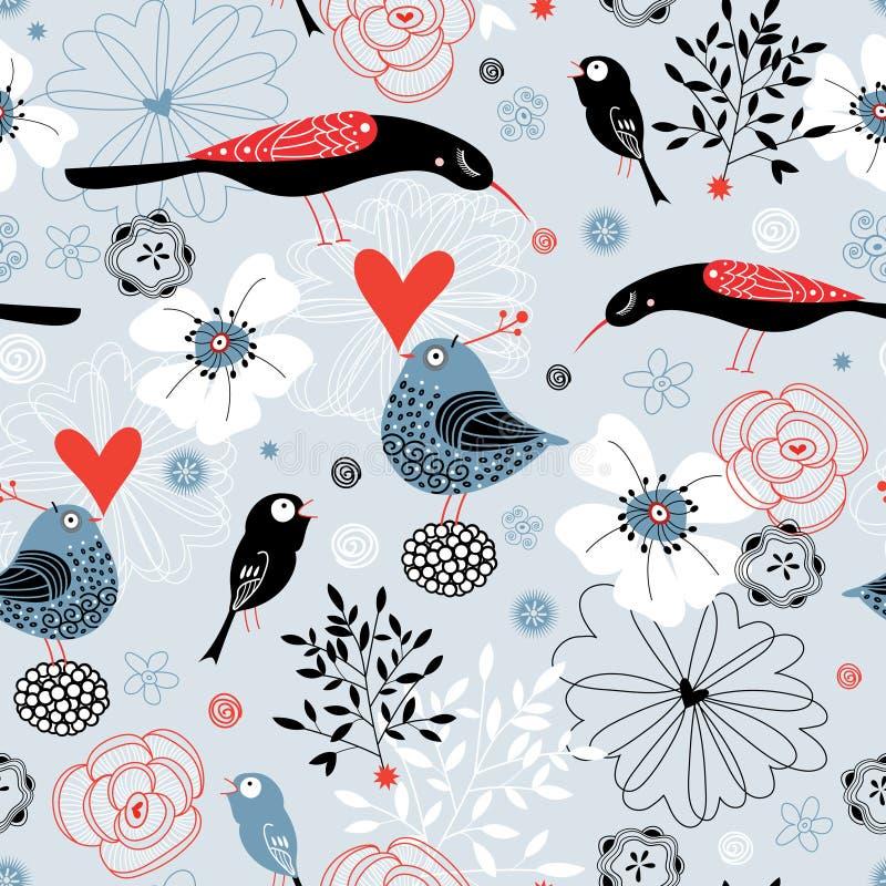 Texture fine birds royalty free illustration