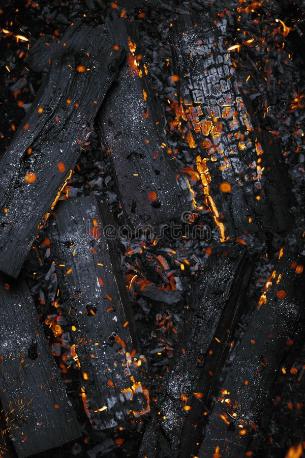 Texture of fire embers sparkles background royalty free stock photos