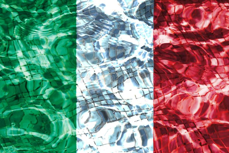 Texture of the Flag of Italy. royalty free stock photography