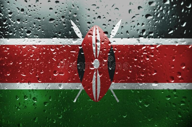 The texture of the flag Kenya stock image