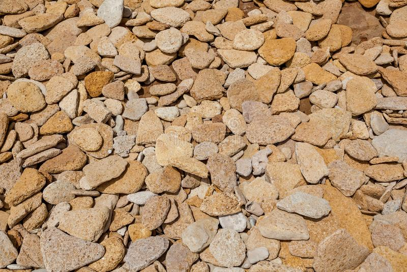 Texture of flat stones stock image
