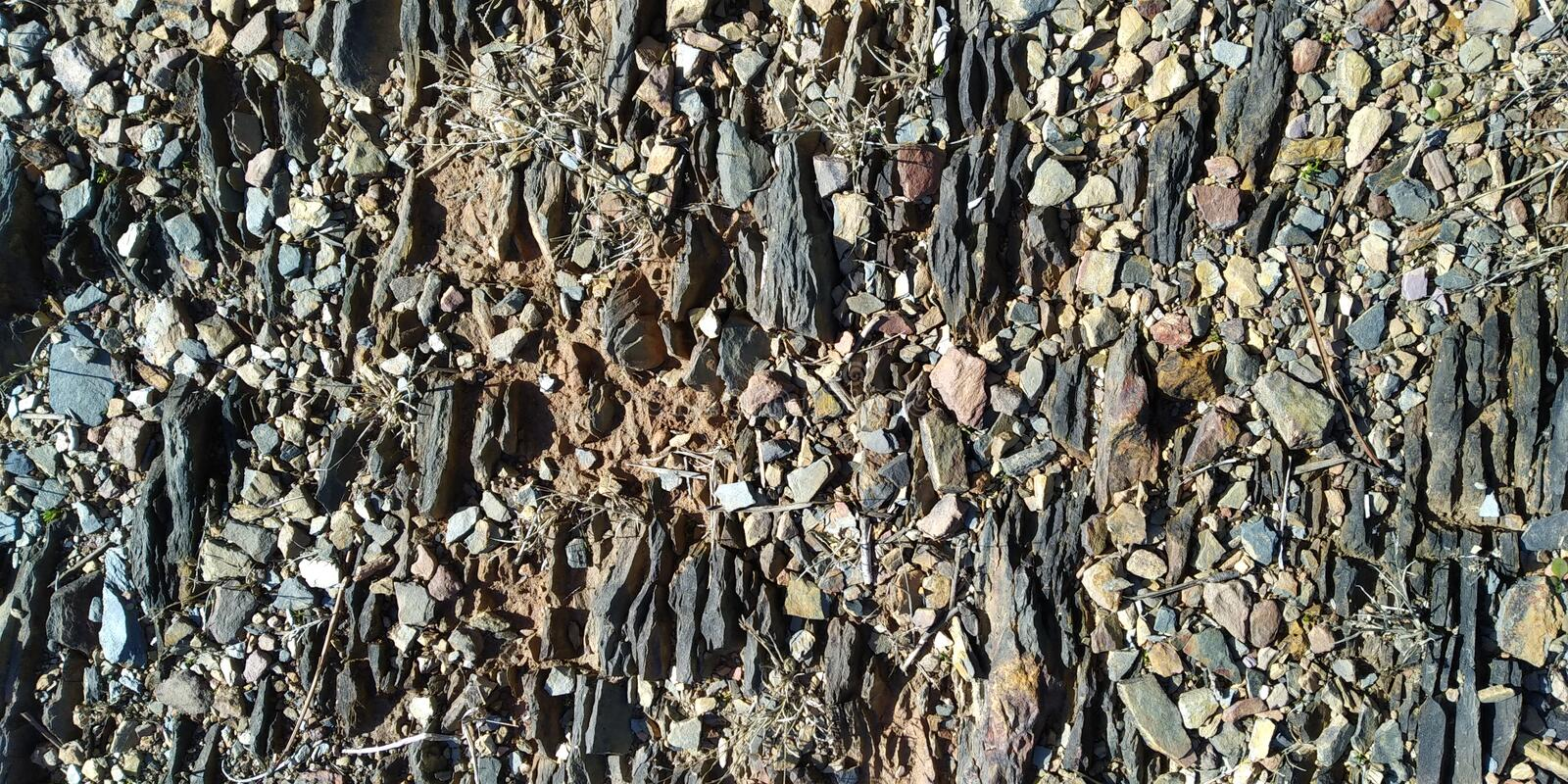 Texture of the floor with Stones. Texture of the floor with little stones. Rock. Floor. Chão Rocha Grey royalty free stock photography