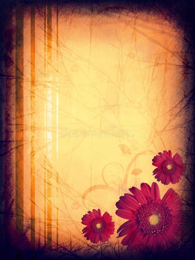 Texture florale grunge illustration de vecteur