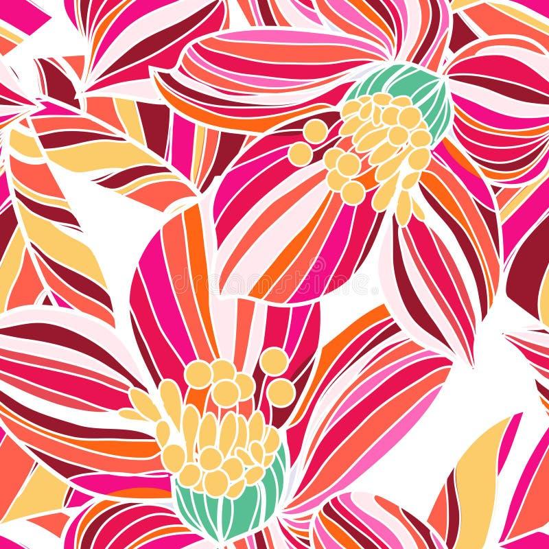 Texture florale sans joint illustration de vecteur