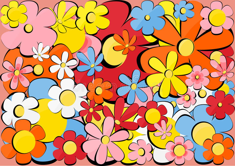 Download Texture with flowers stock vector. Illustration of image - 24314872