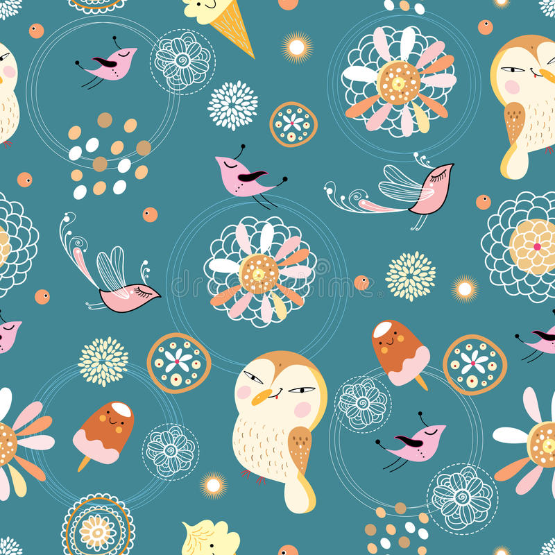 The Texture Of Flowers And Birds Stock Photo