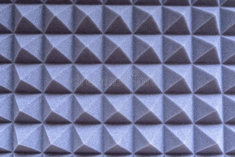Texture. foam rubber for noise suppression. In the sound recording studio royalty free stock images