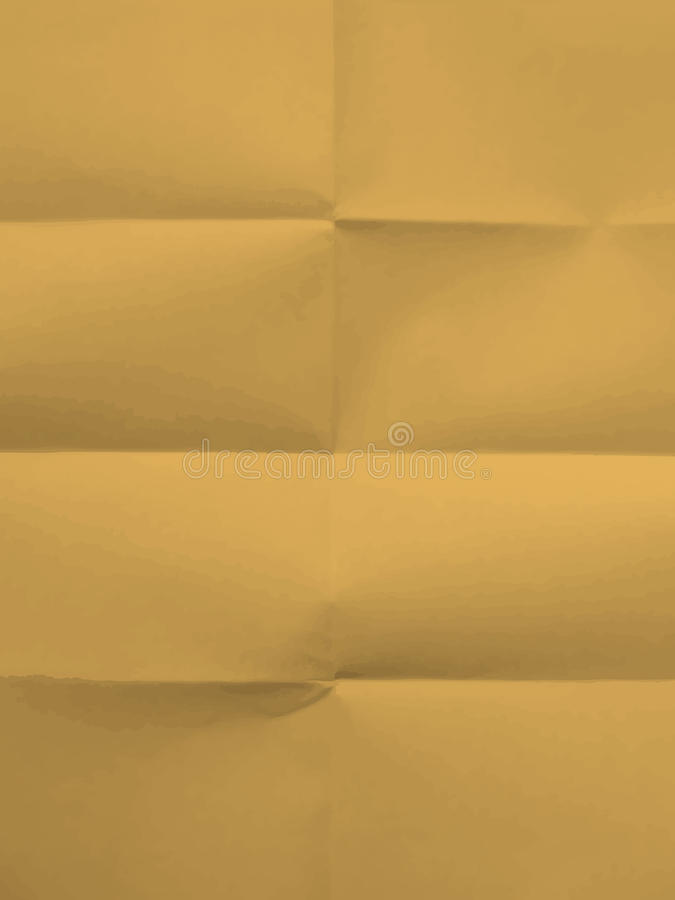 Texture of folded in eight paper stock photography