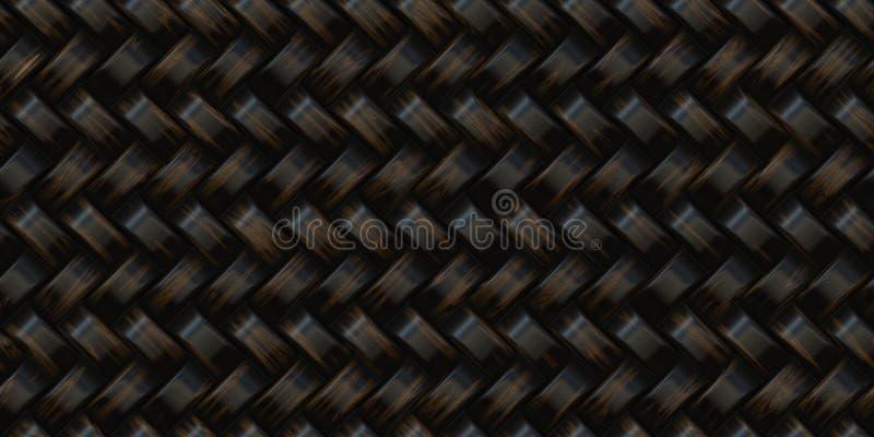 Texture foncée de rotin photo stock