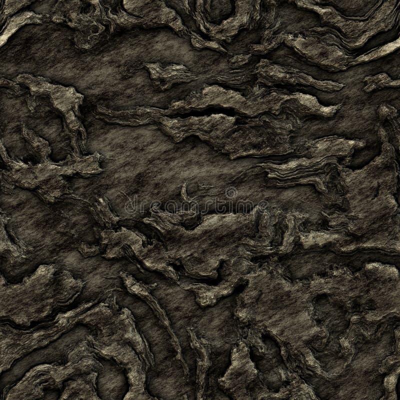 Texture foncée sans joint de roche illustration de vecteur
