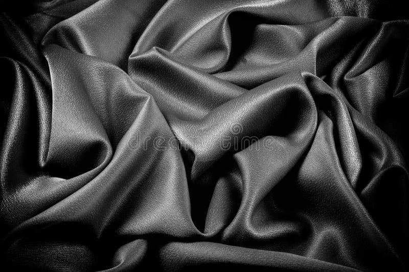 Texture, fond descripteur Le tissu d'école est noir, gris photographie stock