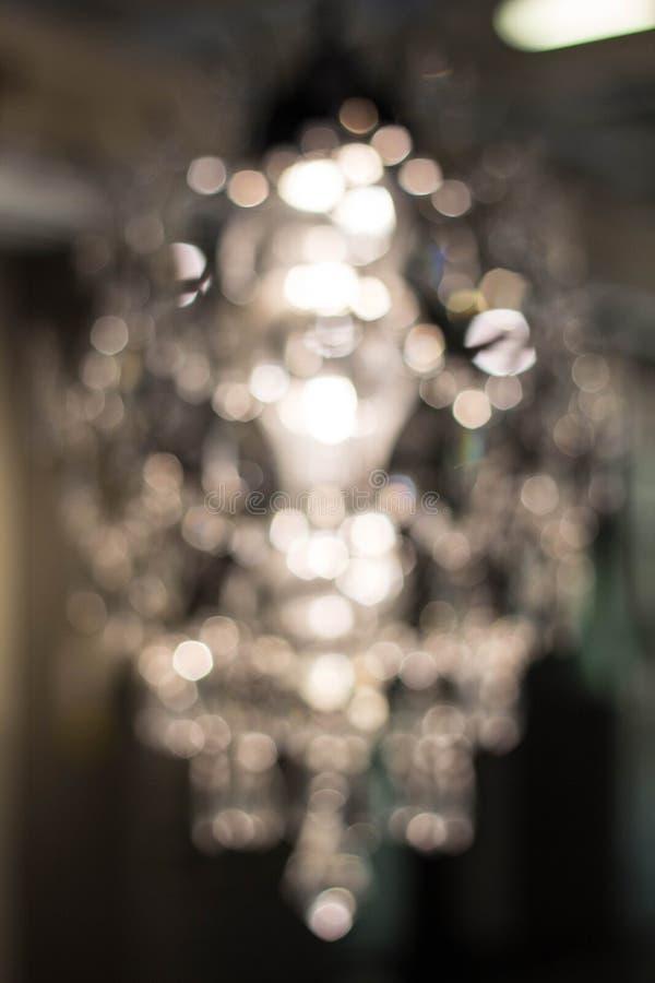 Texture, fond lustre en cristal léger avec le foyer brouillé image stock
