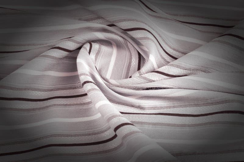 Texture, fond, modèle Le tissu de laine est pâle - rose, rayure image stock