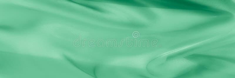 Texture, fond, modèle Tissu en soie vert pâle Il est très photographie stock