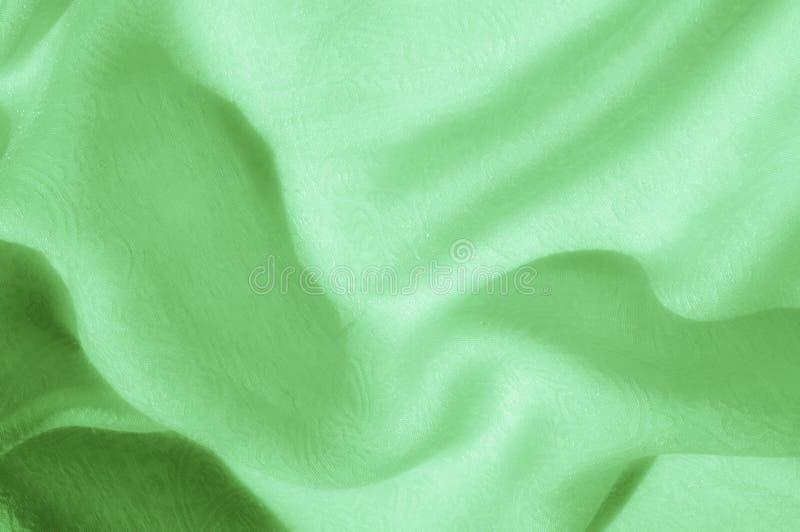 Texture, fond, modèle Tissu - lumière en soie Fa vert pâle image libre de droits