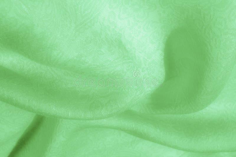 Texture, fond, modèle Tissu - lumière en soie Fa vert pâle photos libres de droits