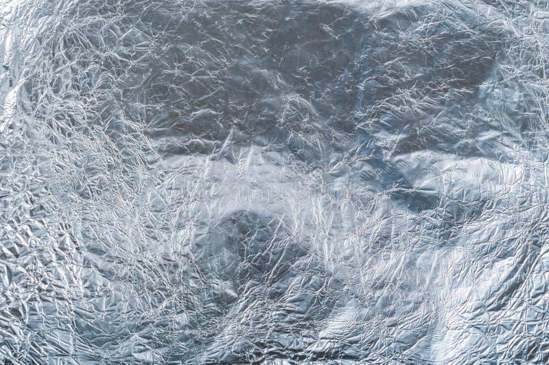 Texture froissée de fond d'aluminium image libre de droits