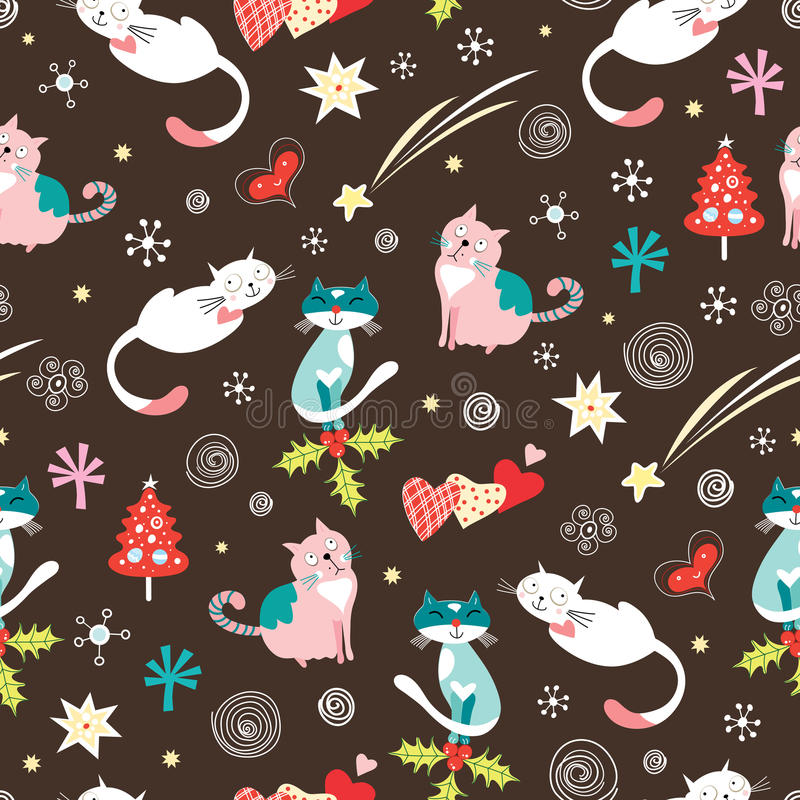 texture funny cats stock illustration
