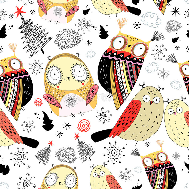 Download Texture funny owl stock vector. Illustration of loop - 27461217