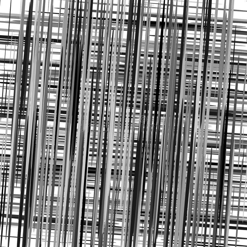 Texture géométrique abstraite, modèle avec les lignes aléatoires dynamiques a illustration stock