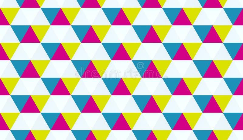 Texture géométrique colorée Éléments hexagonaux Illustration 3d sans couture de haute qualité illustration libre de droits
