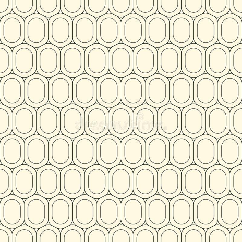 Texture géométrique de répétition élégante moderne des formes monochromes des variantes d'hexagone sous forme de grille Simple et illustration libre de droits