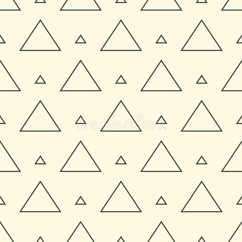 Texture géométrique de répétition élégante moderne des formes monochromes des variantes de triangle sous forme de grille Simple e illustration de vecteur