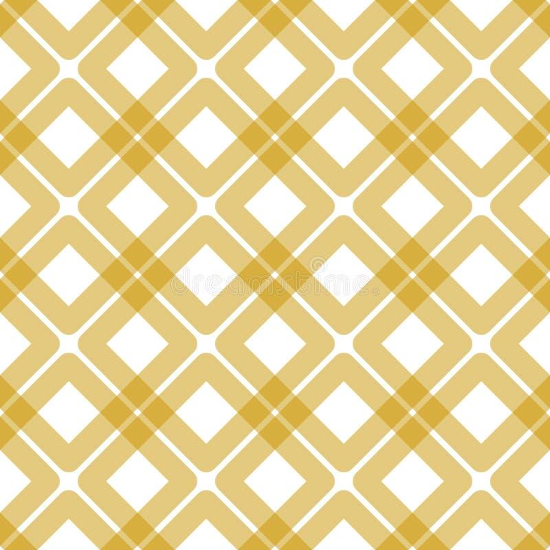 Texture géométrique sans couture de serviette de places illustration stock