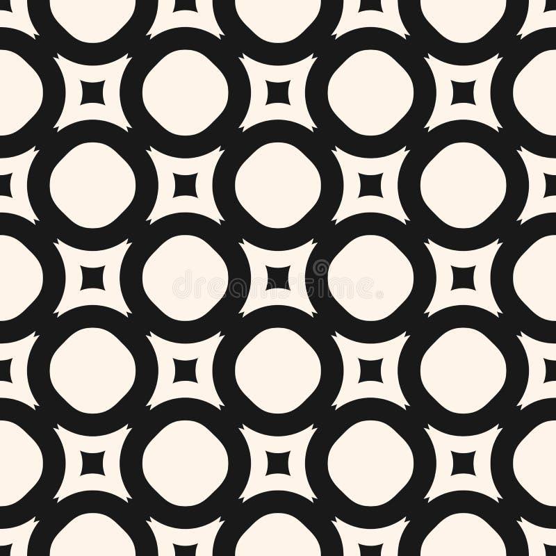 Texture g?om?trique de vecteur, mod?le sans couture monochrome avec des cercles, places illustration libre de droits