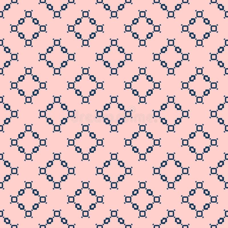 Texture g?om?trique minimaliste simple Mod?le sans couture de vecteur avec de petites formes illustration stock