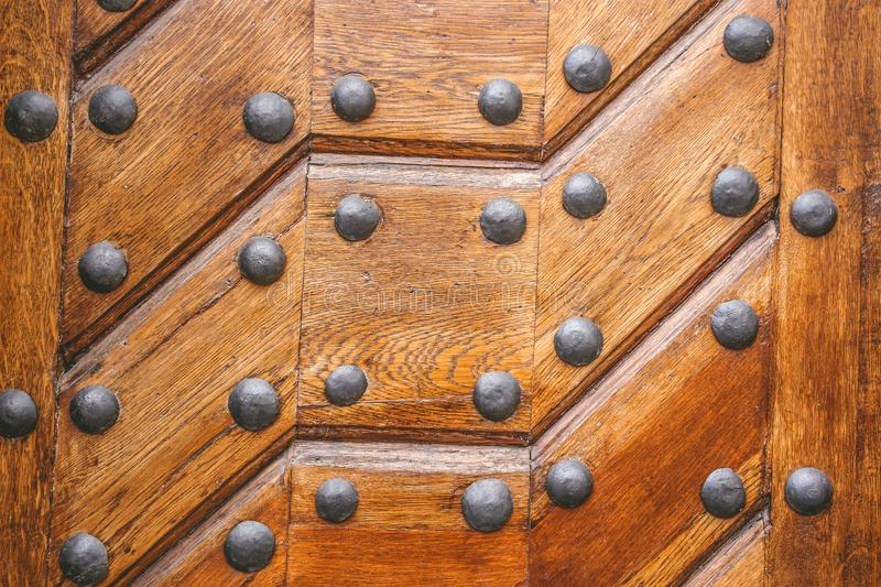 Texture Gate Carved Wood Metal Vintage stock photo