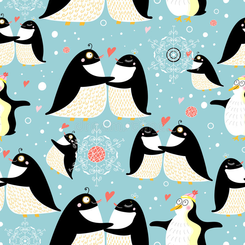 Download Texture gay penguins stock vector. Image of hearts, baby - 19513283