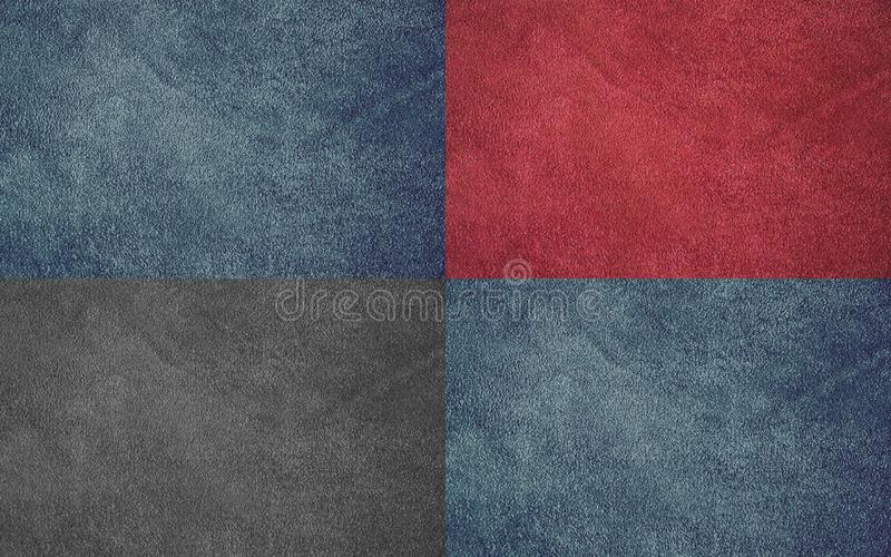 Texture of genuine leather. Beautiful leather background. Collage. stock photography