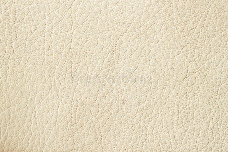 Texture of Genuine Leather cream color, background, surface. royalty free stock photos
