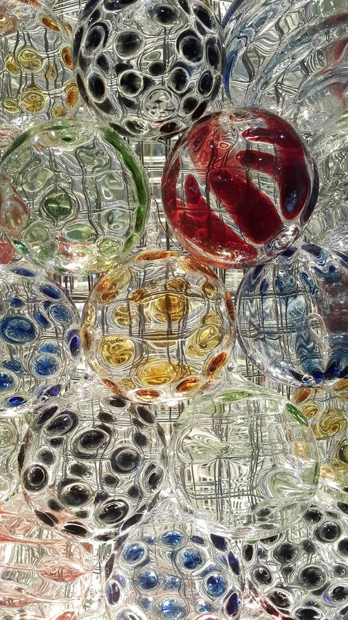 Texture of glass ball royalty free stock photography