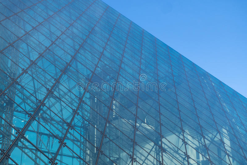 Texture of glass building. Structure royalty free stock image