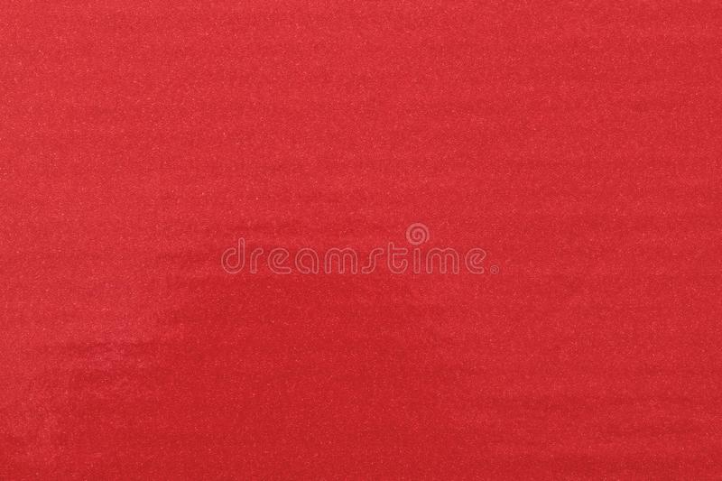Texture of glitter red paint on plastic sheet, abstract pattern background.  royalty free stock photos
