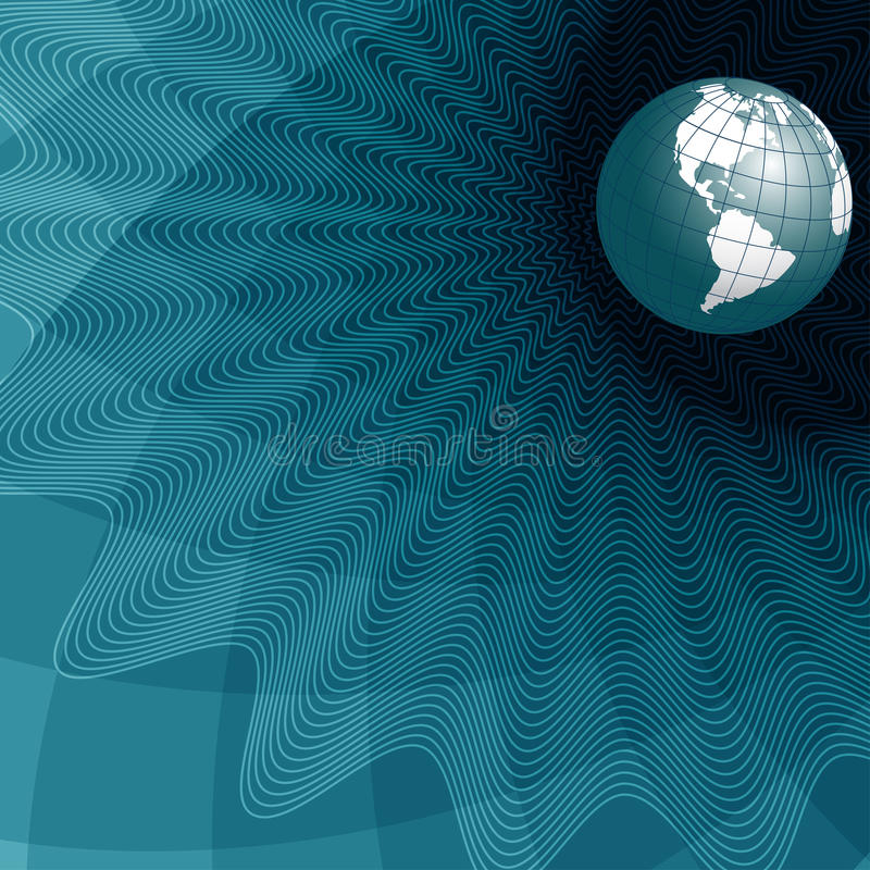 Texture globe royalty free illustration