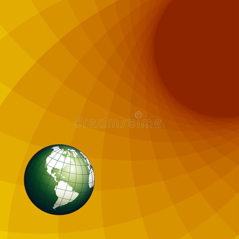 Texture globe stock illustration
