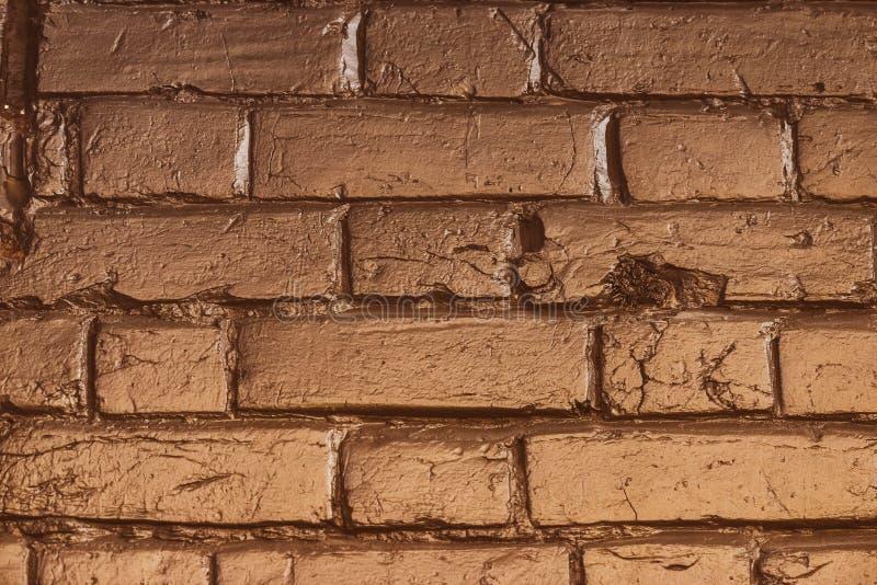 Texture of gold brick. Close stock image