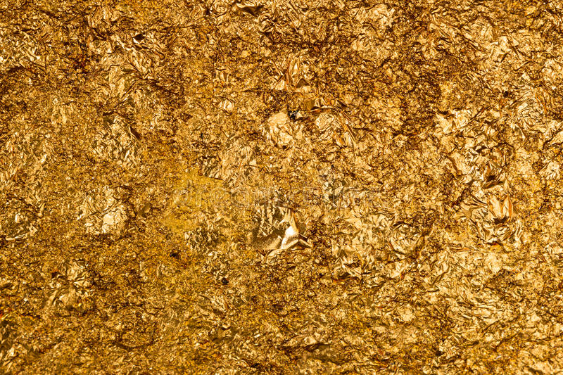 Texture of the gold leaf royalty free stock photography