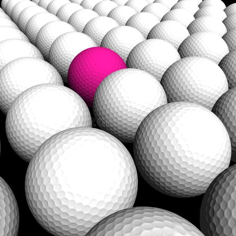 Texture Golf Balls Stock Photo