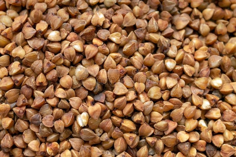 The texture of the grain of buckwheat close up royalty free stock photos